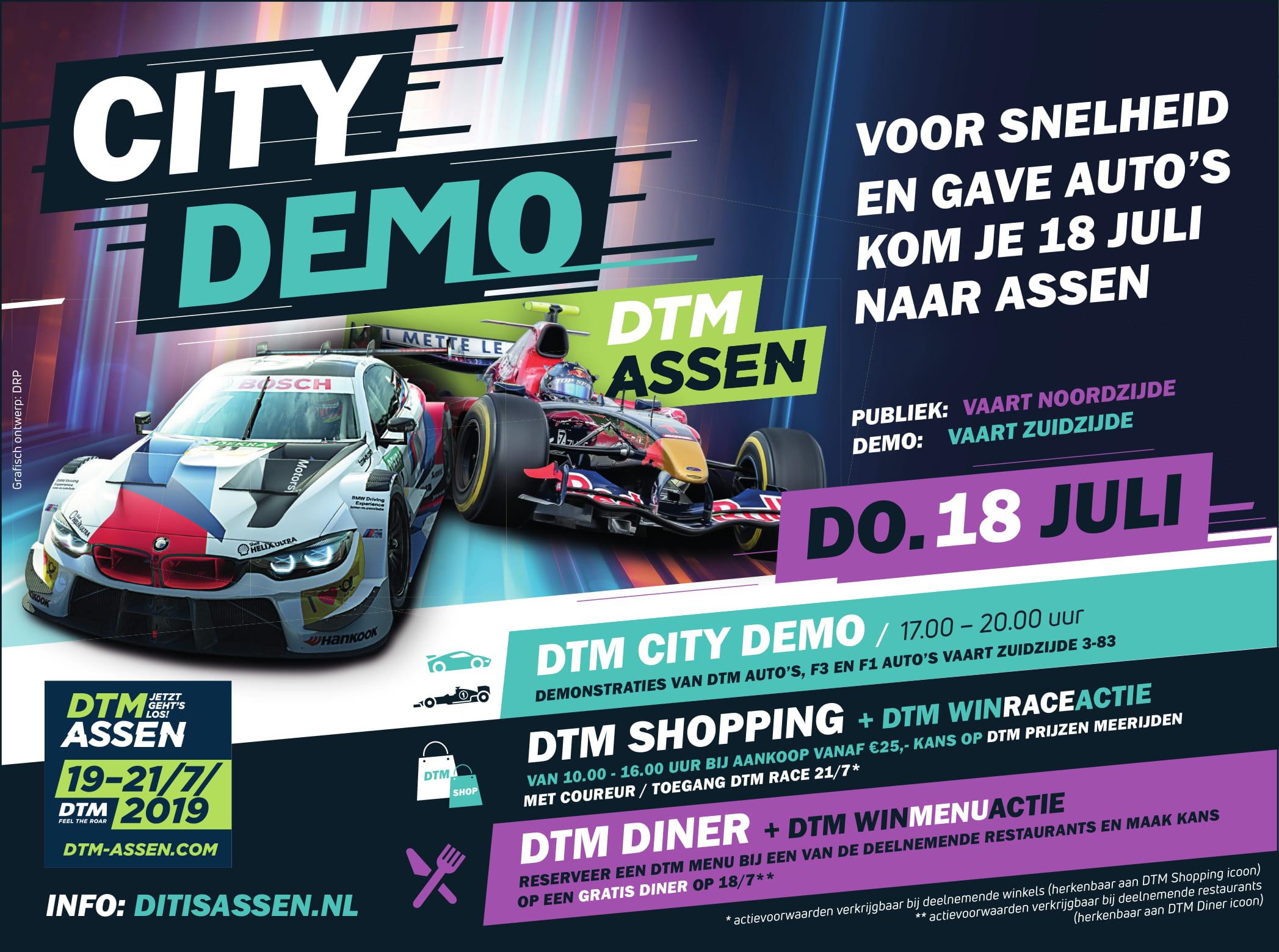 Kom naar de DTM  City Demo